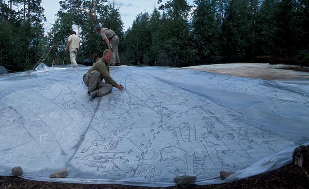 На севере России найдены наскальные рисунки