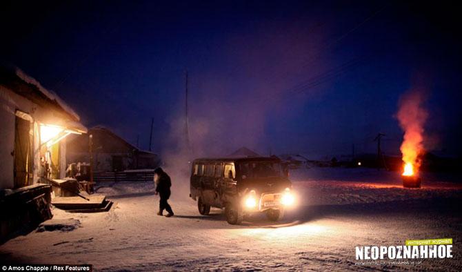 Село Оймякон полюс холода